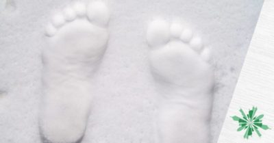 La prima impronta sulla neve fresca